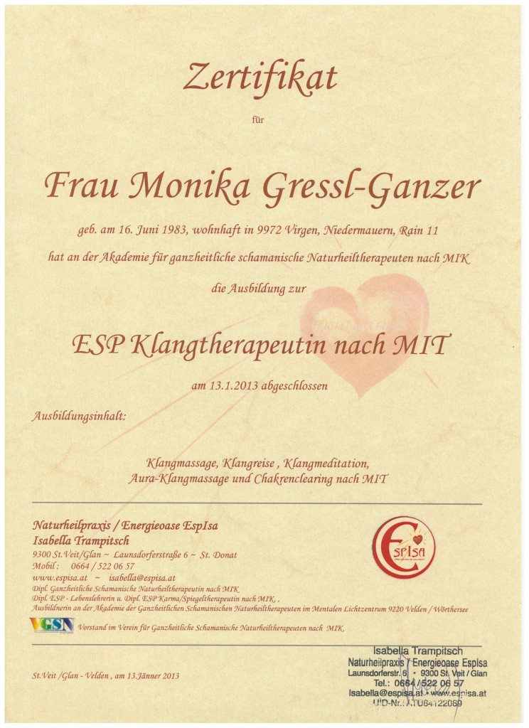 Diplom Klangtherapeutin