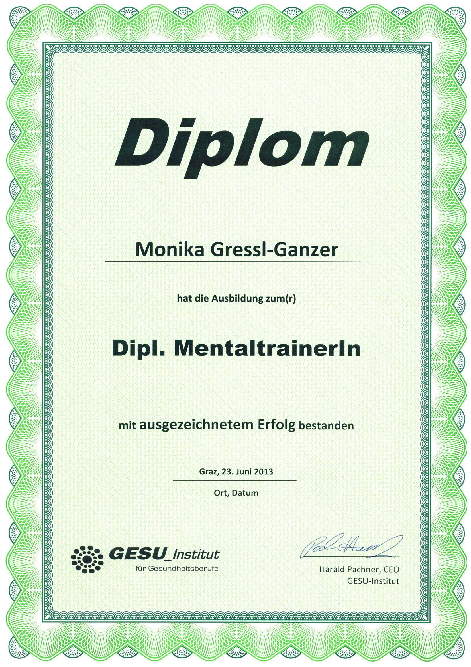 Diplom Mentaltraining
