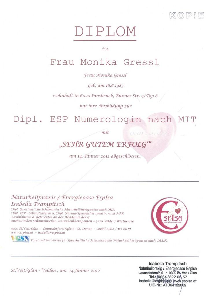 Diplom Numerologie