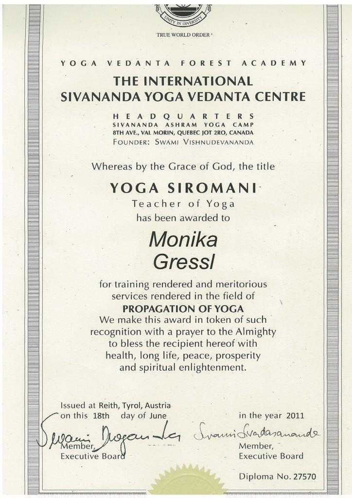 Diplom Yogalehrer Ausbildung